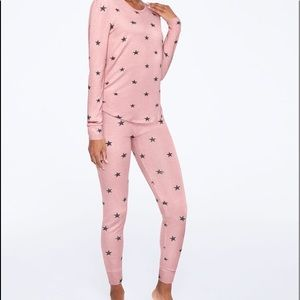 Victoria's secret pink cozy legging & top pj set